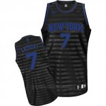Maglia Scanalatura Moda New York Knicks Carmelo Anthony #7 Nero