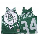 Maglia Boston Celtics Paul Pierce #34 Mitchell & Ness Big Face Verde