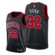Maglia Chicago Bulls Kris Dunn #32 Statement Edition Nero