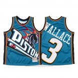 Maglia Detroit Pistons Ben Wallace #3 Mitchell & Ness Big Face Blu