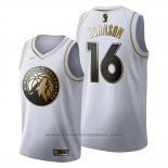 Maglia Golden Edition Minnesota Timberwolves James Johnson #16 2019-20 Bianco