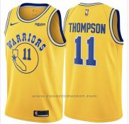 Maglia Golden State Warriors Klay Thompson #11 Hardwood Classic 2018 Giallo
