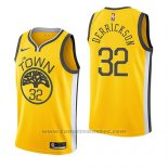 Maglia Golden State Warriors Marcus Derrickson #32 Earned 2018-19 Giallo