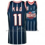 Maglia Houston Rockets Yao Ming #11 Retro Blu