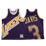 Maglia Los Angeles Lakers Anthony Davis #3 Mitchell & Ness Big Face Viola