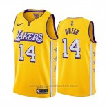 Maglia Los Angeles Lakers Danny Green #14 Citta Edition Giallo