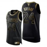 Maglia Los Angeles Lakers Kobe Bryant #24 Gold Black Mamba Or Nero