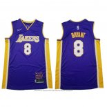 Maglia Los Angeles Lakers Kobe Bryant #8 Retirement 2018 Viola