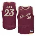 Maglia Natale 2015 Cleveland Cavaliers LeBron James #23 Rosso