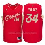 Maglia Natale 2015 Los Angeles Clippers Paul Pierce #34 Rosso