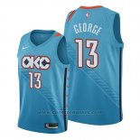 Maglia Oklahoma City Thunder Paul George #13 Citta Edition Blu