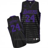 Maglia Scanalatura Moda Los Angeles Lakers Kobe Bryant #24 Nero