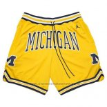 Pantaloncini Air Jordan Just Don NCAA Michigan Giallo