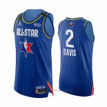 Maglia All Star 2020 Los Angeles Lakers Anthony Davis #2 Autentico Blu