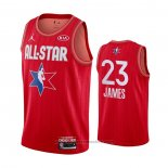 Maglia All Star 2020 Los Angeles Lakers LeBron James #23 Rosso