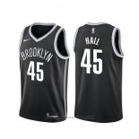 Maglia Brooklyn Nets Donta Hall #45 Icon 2020 Nero