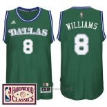 Maglia Dallas Mavericks Deron Williams #8 Retro Verde
