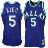 Maglia Dallas Mavericks Jason Kidd #5 Retro Blu