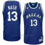 Maglia Dallas Mavericks Steve Nash #13 Retro Blu