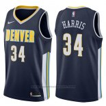 Maglia Denver Nuggets Devin Harris #34 Icon 2017-18 Blu