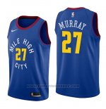 Maglia Denver Nuggets Jamal Murray #27 Statement 2018-19 Blu