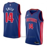 Maglia Detroit Pistons Ish Smith #14 Icon 2018 Blu