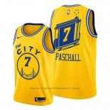 Maglia Golden State Warriors Eric Paschall #7 Hardwood Classics Or