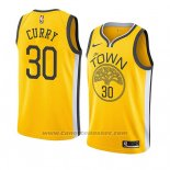 Maglia Golden State Warriors Stephen Curry #30 Earned 2018-19 Giallo