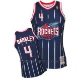 Maglia Houston Rockets Charles Barkley #4 Retro Blu