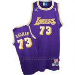 Maglia Los Angeles Lakers Dennis Rodman #73 Retro Viola