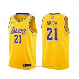 Maglia Los Angeles Lakers J.r. Smith #21 Icon 2020 Giallo