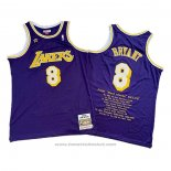 Maglia Los Angeles Lakers Kobe Bryant #8 Viola