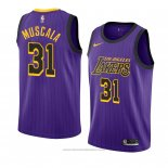 Maglia Los Angeles Lakers Mike Muscala #31 Citta 2018-19 Viola