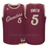 Maglia Natale 2015 Cleveland Cavaliers J.R. Smith #5 Rosso