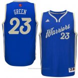 Maglia Natale 2015 Golden State Warriors Draymond Green #23 Blu