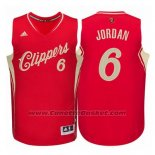 Maglia Natale 2015 Los Angeles Clippers DeAndre Jordan #6 Rosso