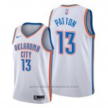 Maglia Oklahoma City Thunder Justin Patton #13 Association Bianco