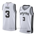 Maglia San Antonio Spurs Brandon Paul #3 Association 2018 Bianco