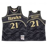 Maglia Atlanta Hawks Dominique Wilkins #21 1986-87 Hardwood Classic Nero