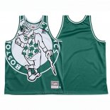 Maglia Boston Celtics Mitchell & Ness Big Face Verde