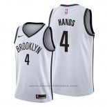 Maglia Brooklyn Nets Jaylen Hands #4 Association 2019-20 Bianco