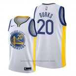 Maglia Golden State Warriors Alec Burks #20 Association 2019-20 Bianco