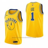 Maglia Golden State Warriors Damion Lee #1 Hardwood Classic 2018-19 Giallo