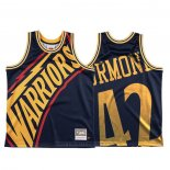 Maglia Golden State Warriors Nathaniel Thurmond #42 Mitchell & Ness Big Face Blu