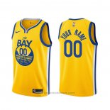 Maglia Golden State Warriors Personalizzate Statement 2019-20 Or