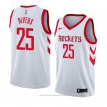 Maglia Houston Rockets Austin Rivers #25 Association 2018 Bianco