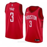 Maglia Houston Rockets Chris Paul #3 Earned 2018-19 Rosso