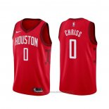 Maglia Houston Rockets Marquese Chriss #0 Earned Rosso