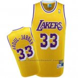 Maglia Los Angeles Lakers Kareem Abdul-Jabbar #33 Retro Giallo