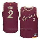 Maglia Natale 2015 Cleveland Cavaliers Kyrie Irving #2 Rosso